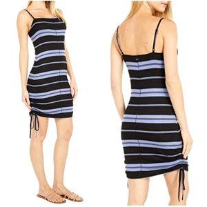 NEW Hurley Malia Stripe Ribbed Cinch Skirt Dress
